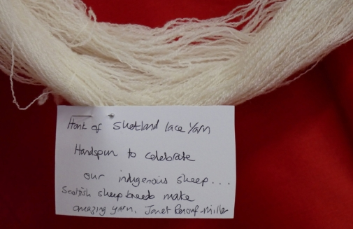 Janet Renouf-Miller - hand spun Shetland lace weight