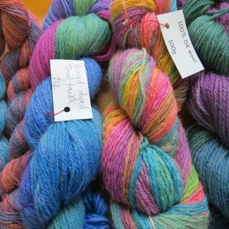 Fiona Moir's hand dyed yarns